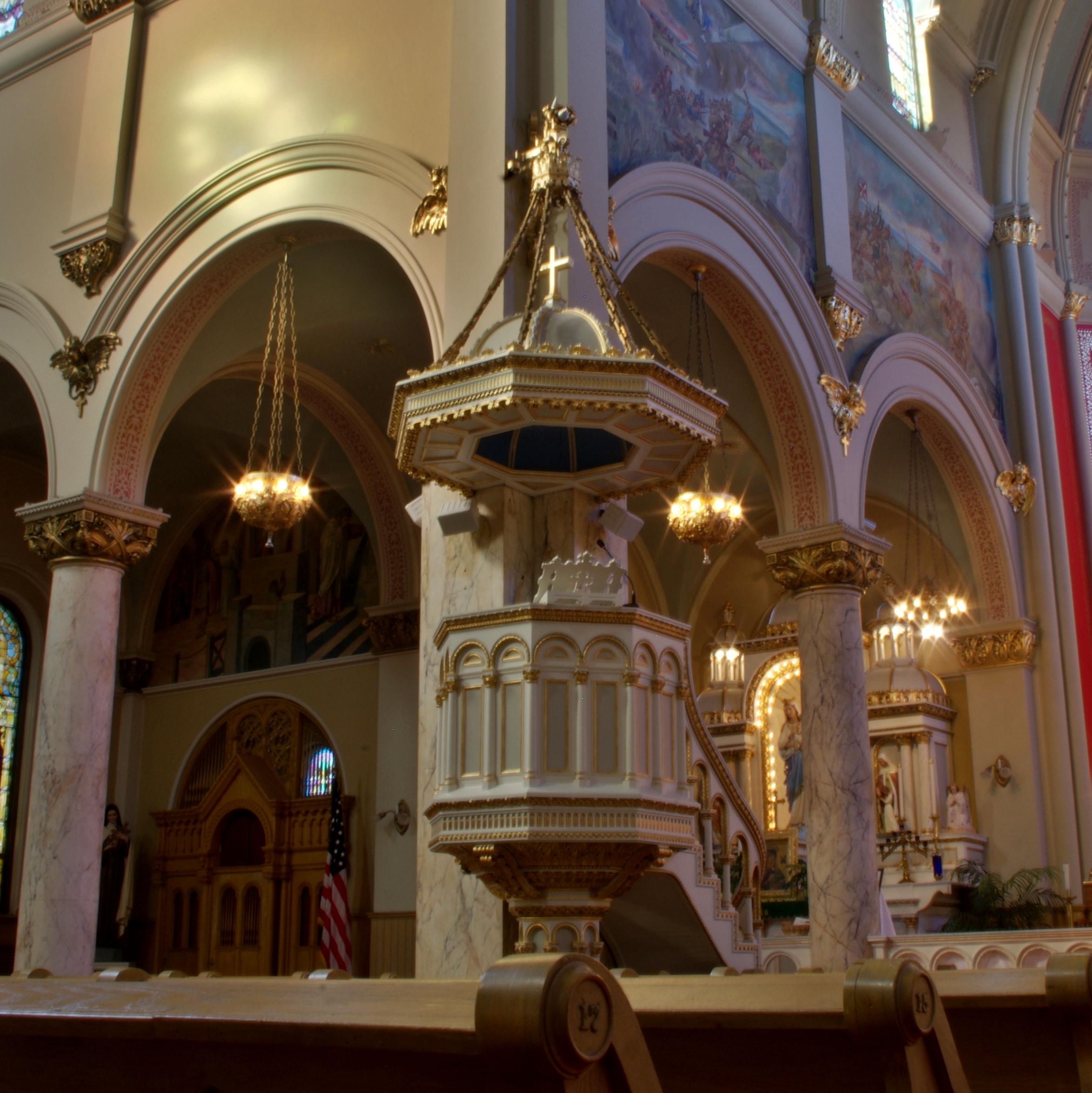 File:Saint Josaphat Catholic Church (Detroit, MI) - ambo ...