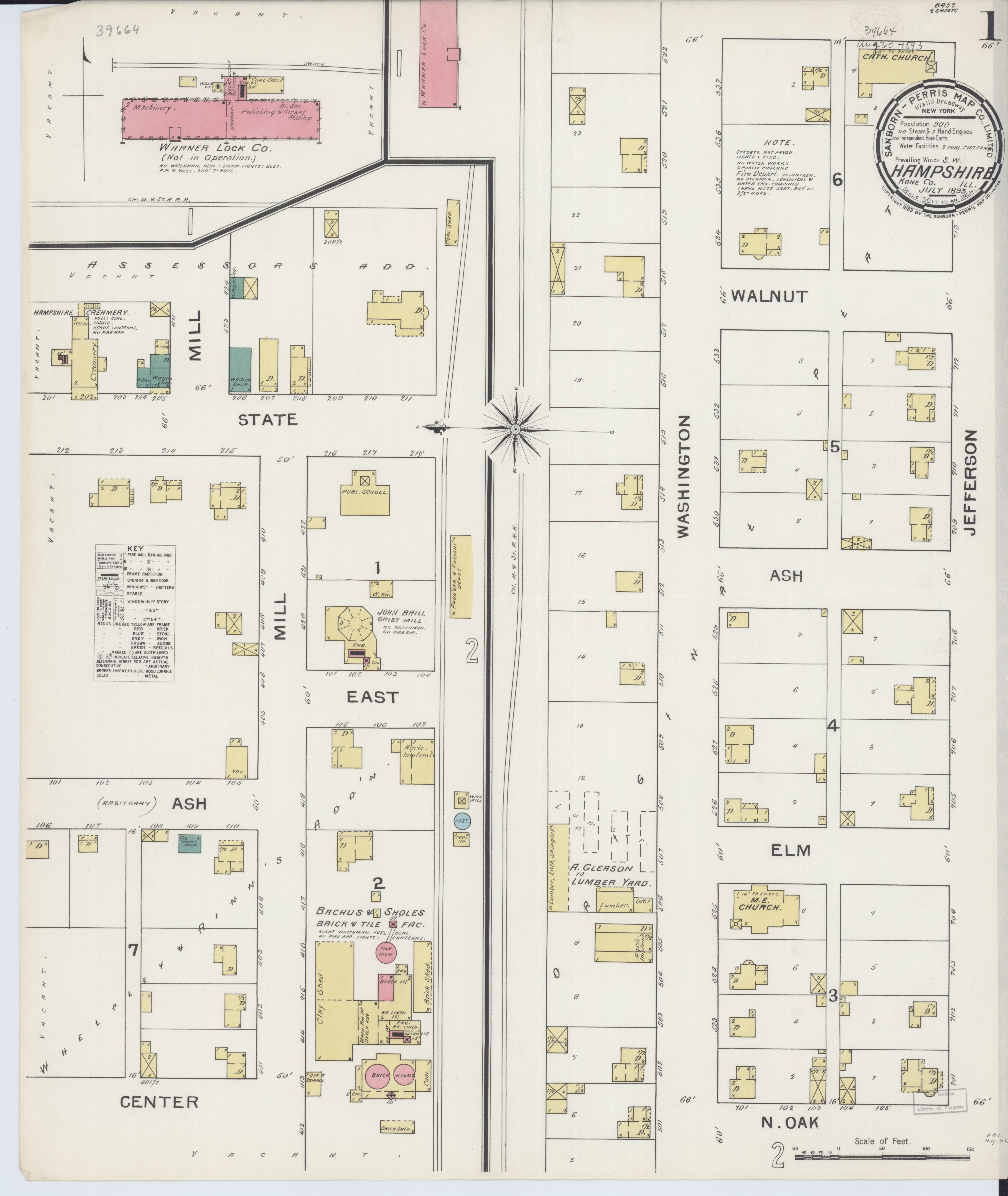 Hampshire Illinois Map.File Sanborn Fire Insurance Map From Hampshire Kane County