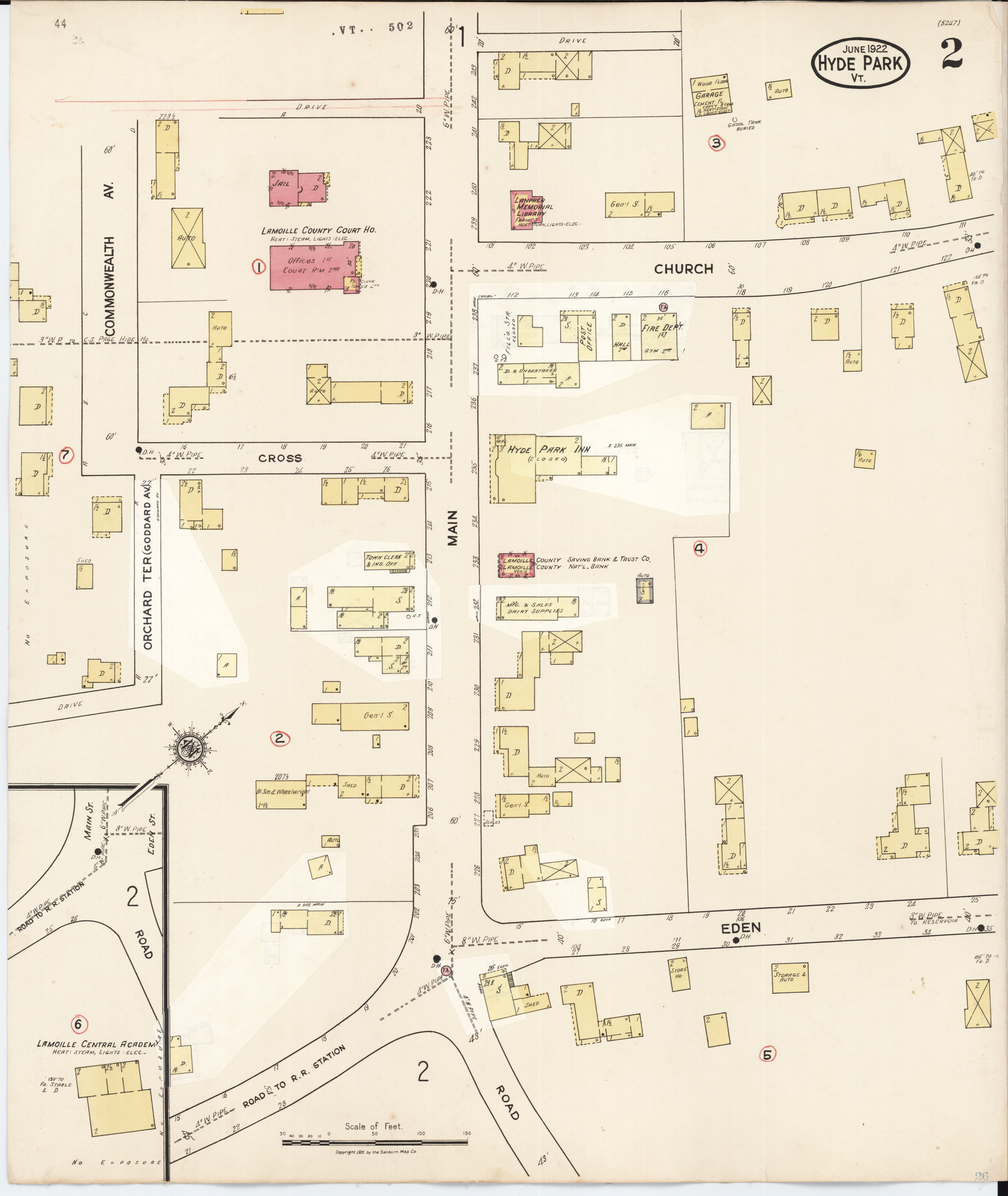 High Park Fire Map.File Sanborn Fire Insurance Map From Hyde Park Lamoille County