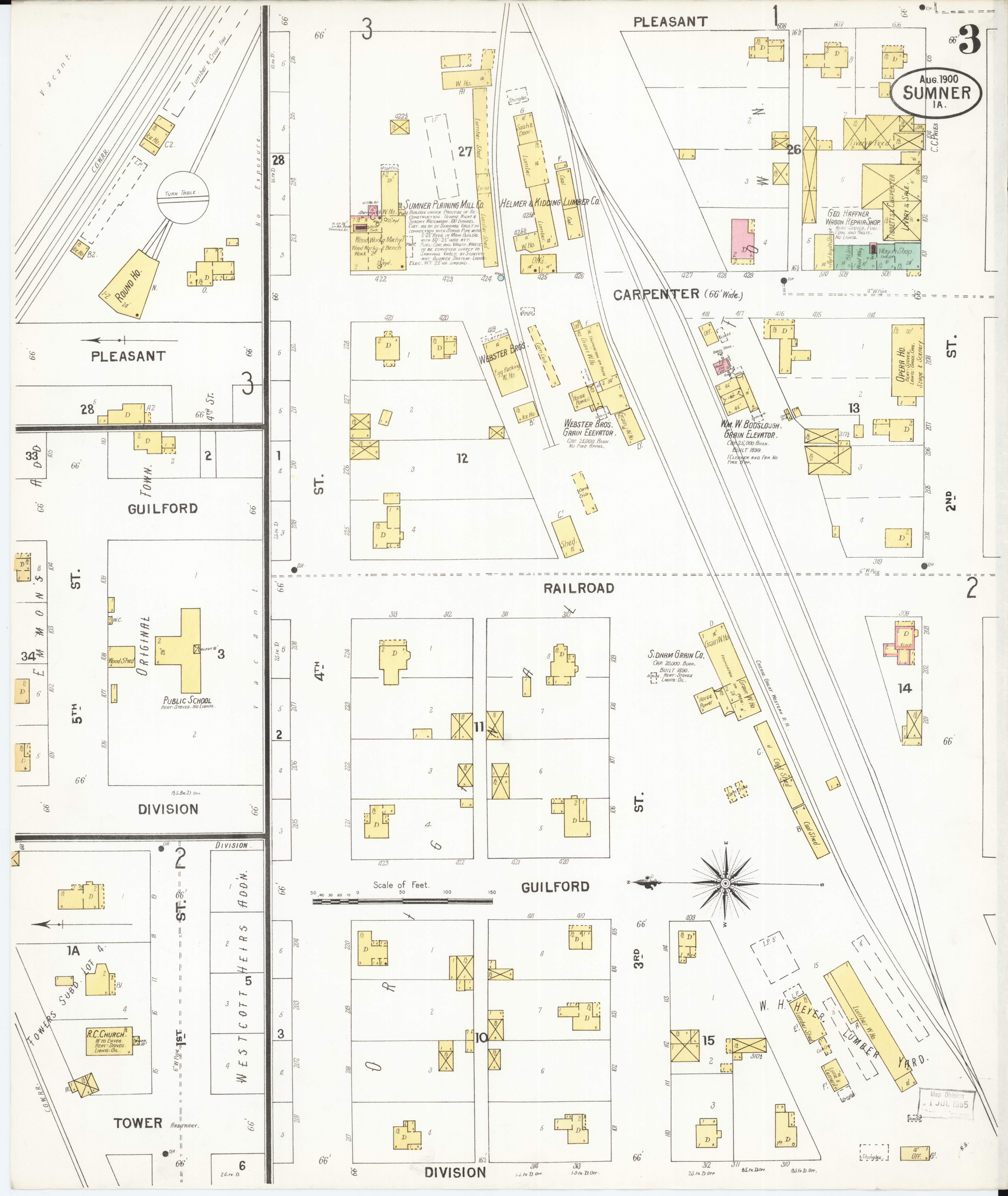 Sumner Iowa Map.File Sanborn Fire Insurance Map From Sumner Bremer County Iowa