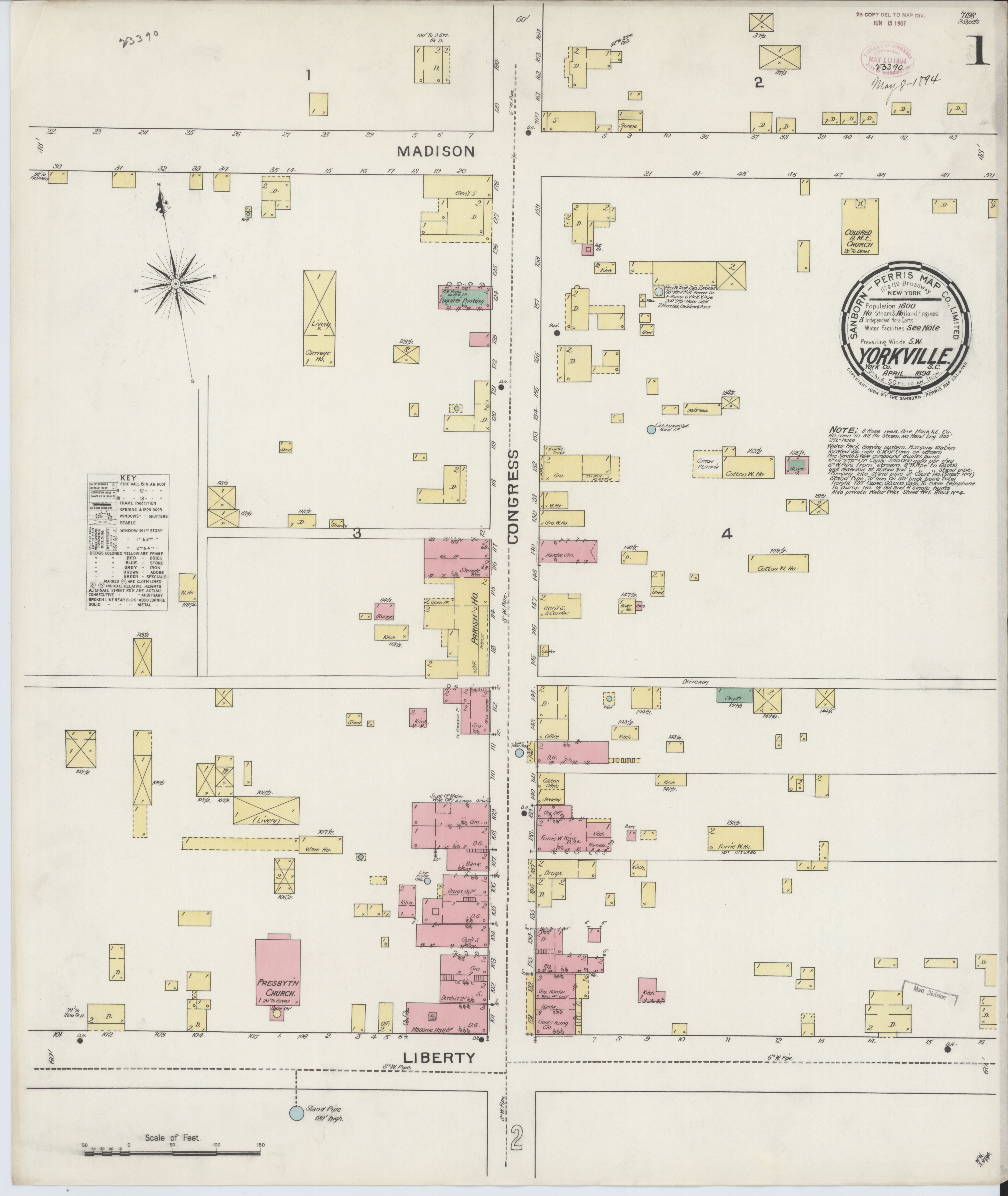 File:Sanborn Fire Insurance Map from York(ville), York County, South on high school in york south carolina, united states map of south carolina, york co south carolina, fort mill map of south carolina, york air conditioner,