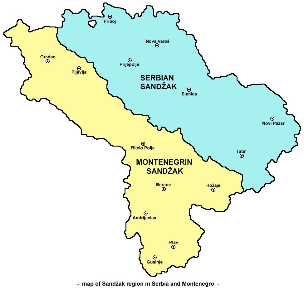 nova varos mapa File:Sandzak region map.png   Wikimedia Commons nova varos mapa