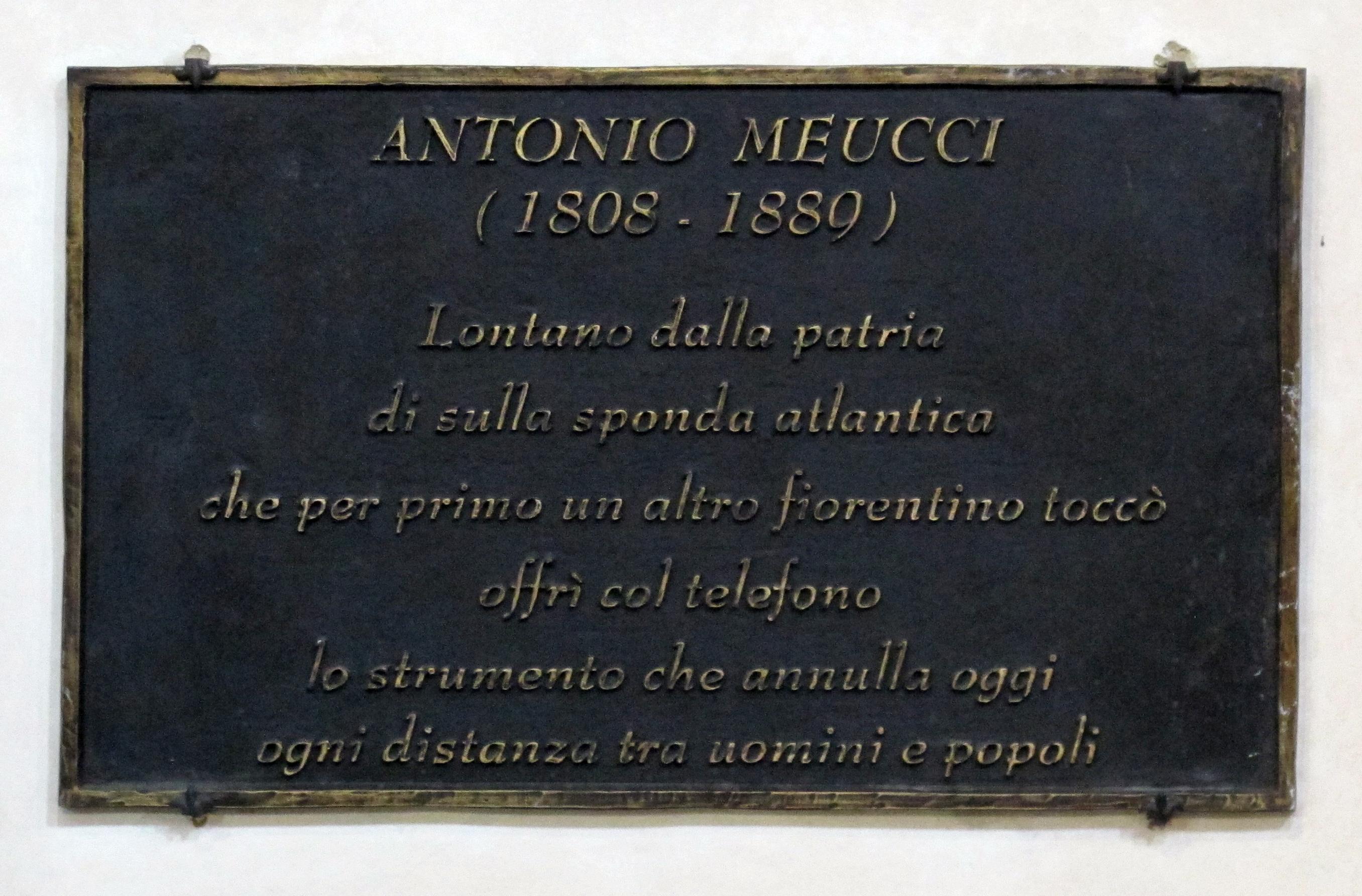 Santa Croce C Lapide Ad Antonio Meucci