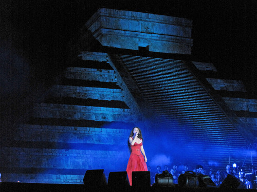 Brightman performing in Chichen Itza, Mexico Sarahbrightmanchichenitza.jpg