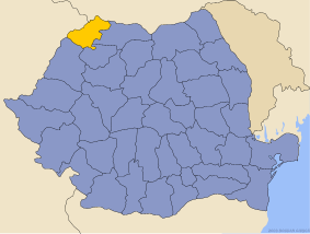 Administrative map of Руминия with Сату Маре county highlighted