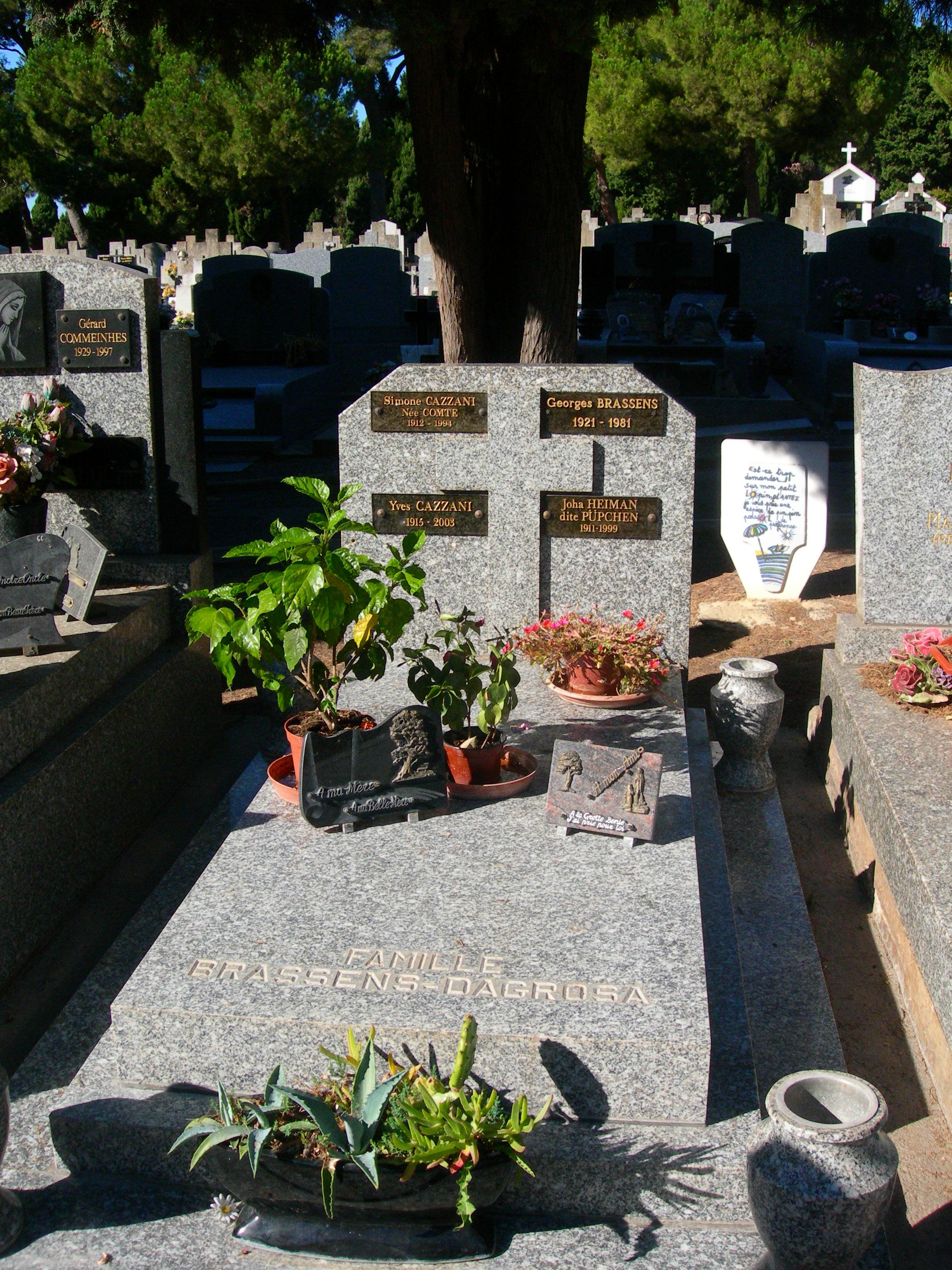 Tumba de Georges Brassens en Sète.
