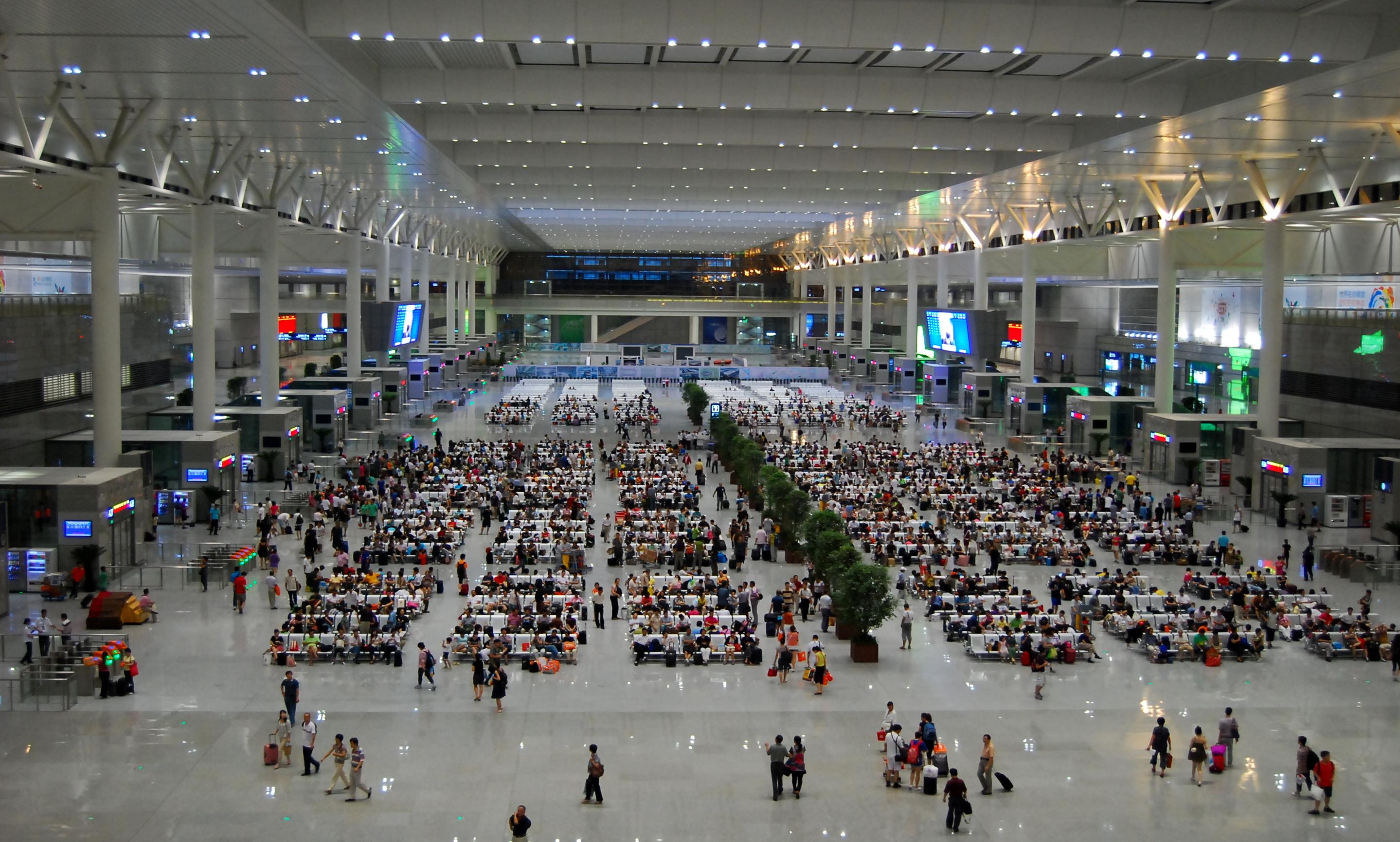 Shanghai Hongqiao Railway Station.