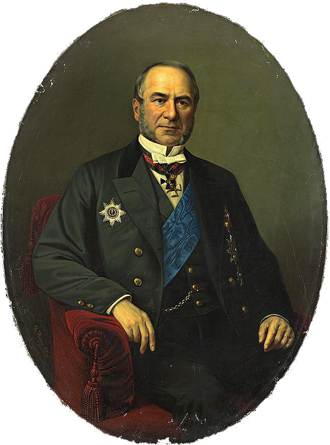 Барон А. Л. Штиглиц на портрете И. Тюрина (1872)