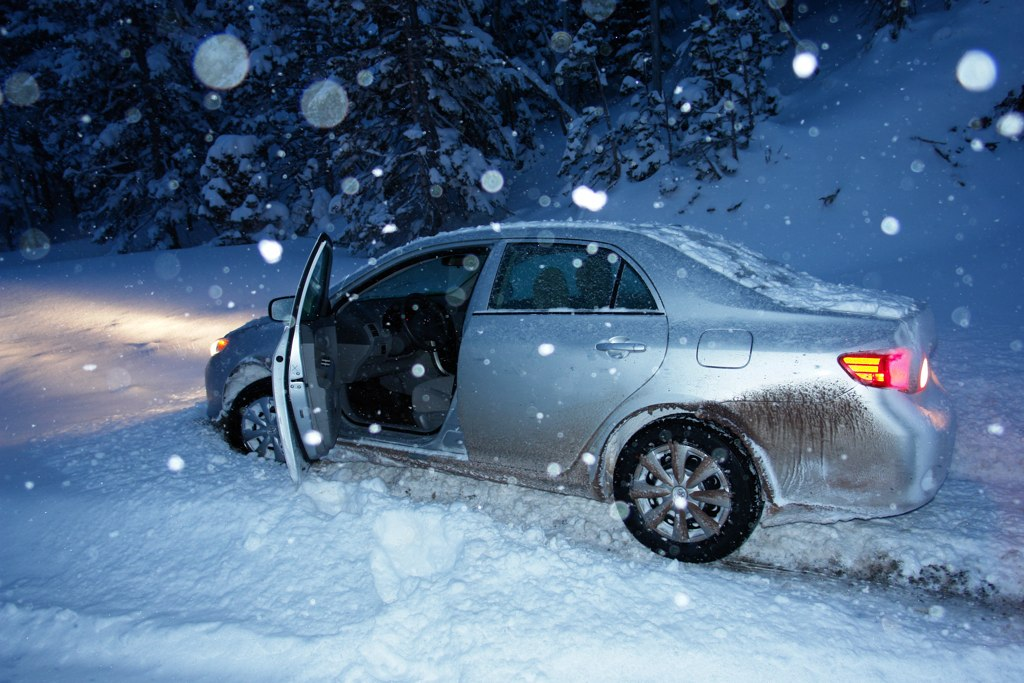 Car Frozen In Ice New York