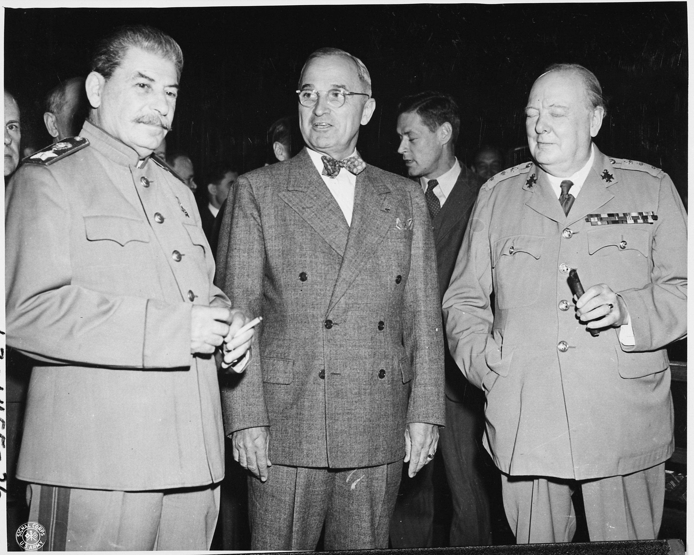 Resultado de imagen para Fotos de Winston Churchill, Harry S. Truman y Joseph Stalin