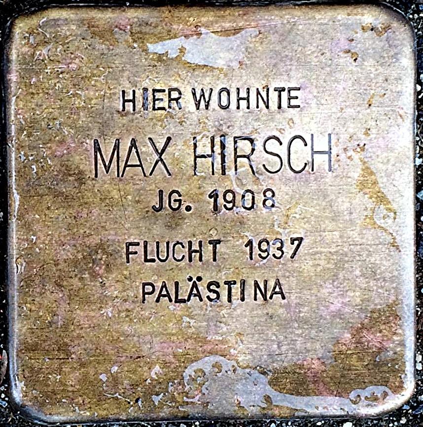 Stolperstein Hirsch, Max.jpg