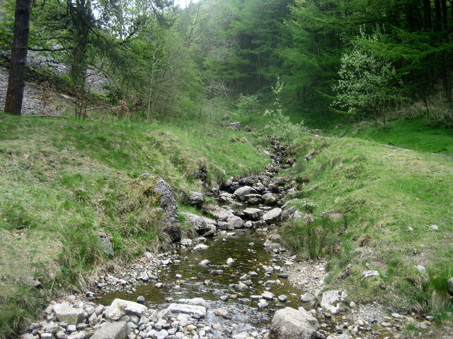 Stream at Worlds End - geograph.org.uk - 1303708