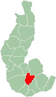 Map of Toliara Province showing the location of Bekily (red).