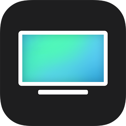 The TV app icon used in iOS and tvOS from December 2016 to March 2019