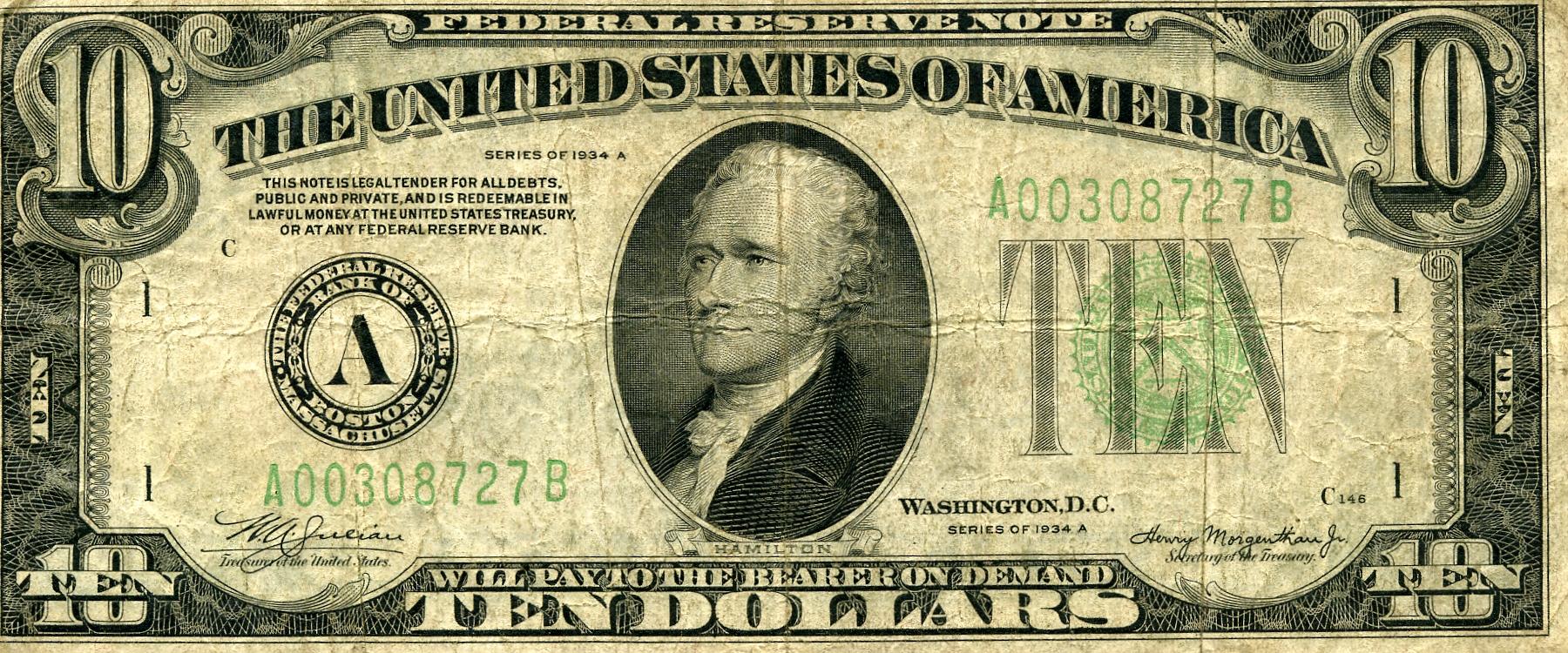 Ten Dollar Bill (Roy Lichtenstein) - Wikiwand
