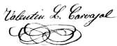 Valentín Lamas Carvajal firma