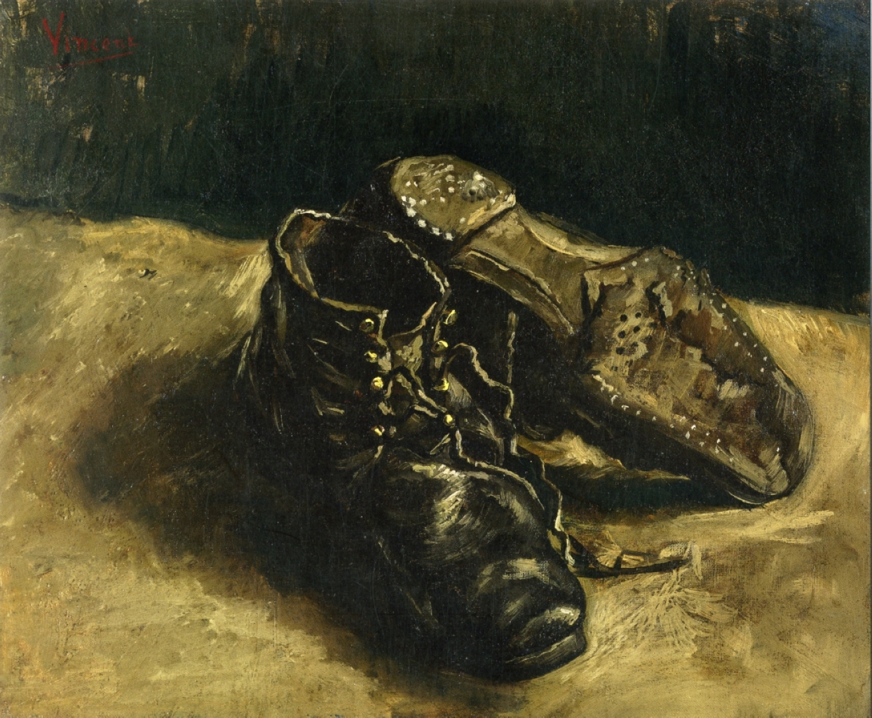 a pair of chaussures vincent van gogh analysis