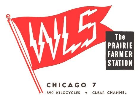 WLS Chicago, Illinois radio station logo (1954)