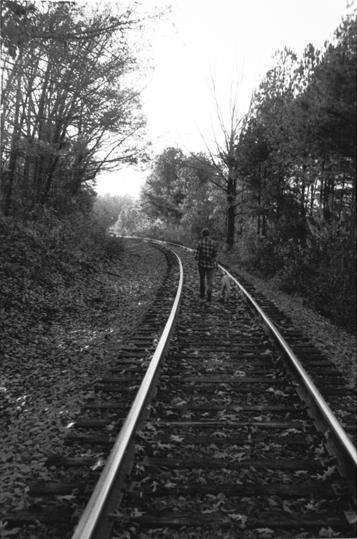 Walking on rail tracks