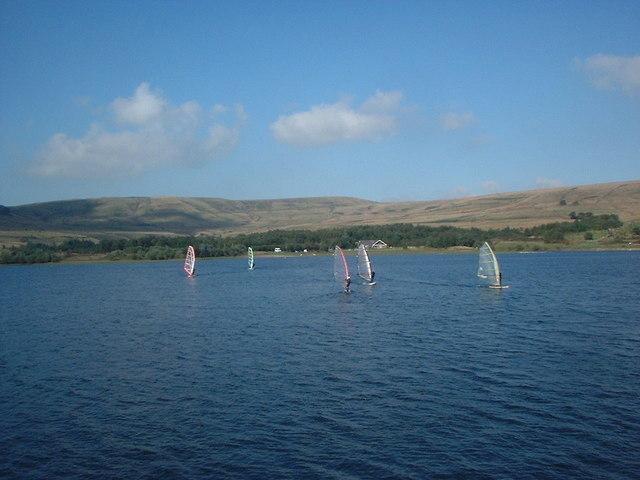 Watergrove windsurfers - geograph.org.uk - 935616