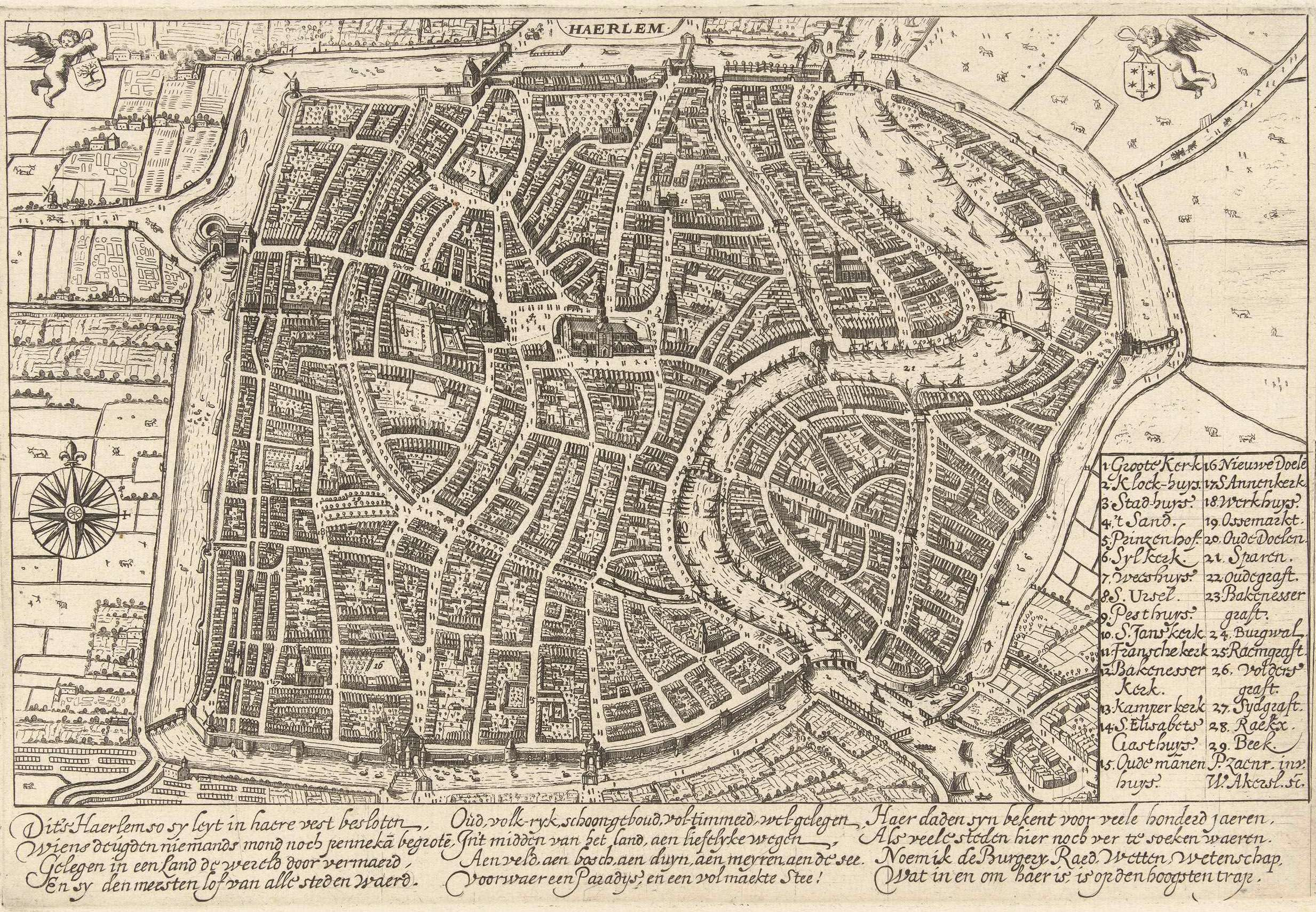 File:Willem Outgertsz Akersloot - map of Haarlem in Samuel Ampzings ...