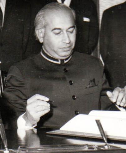 Image result for zulfiqar ali bhutto sworn in as prime minister of pakistan