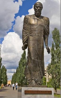 Памятник Ф.М.Достоевскому в Омске.