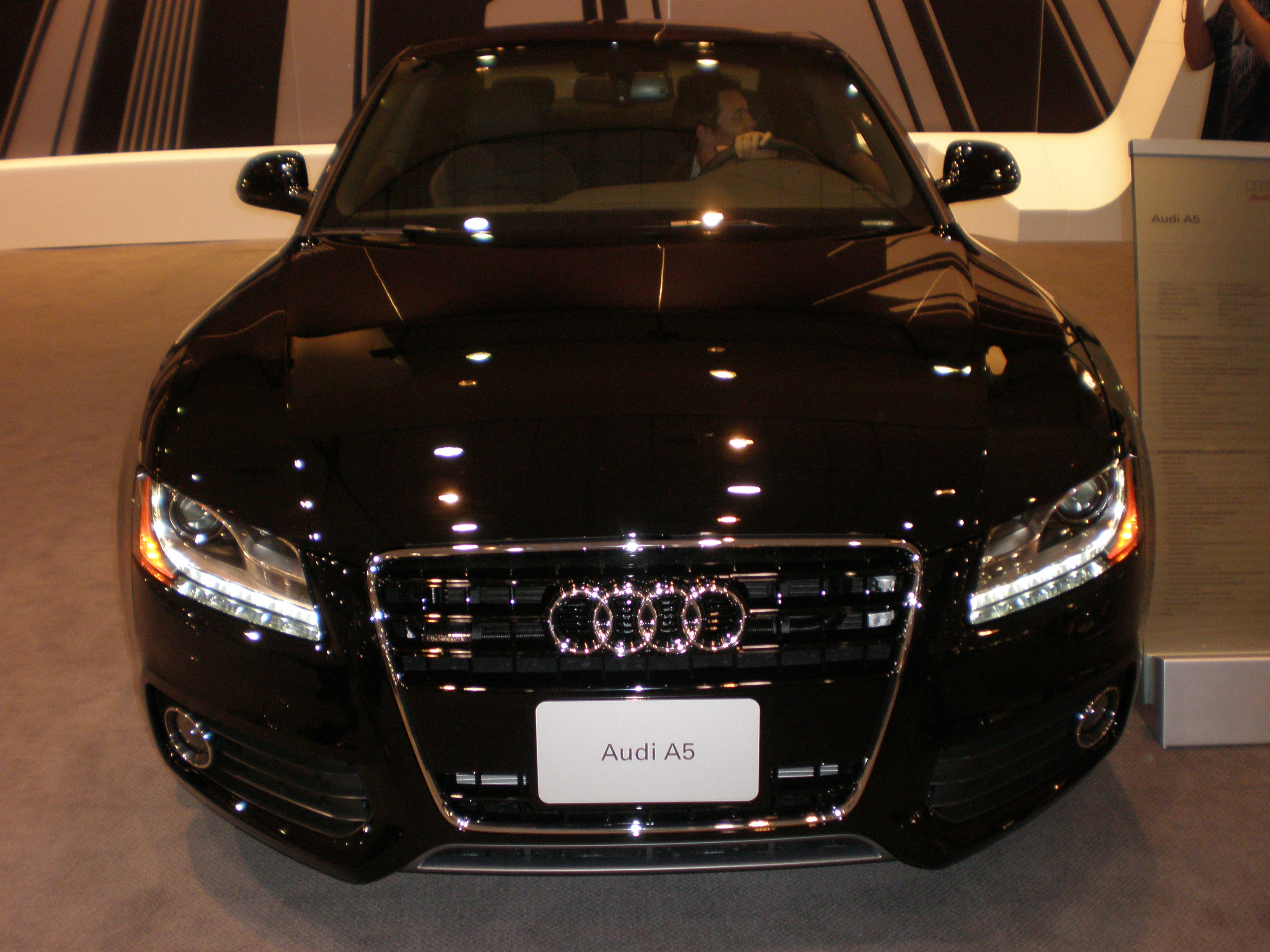 File Black Audi A FrontJPG Wikimedia Commons - Black audi