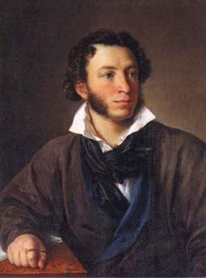 Портрет Пушкина работы  В. А. Тропинина 1827