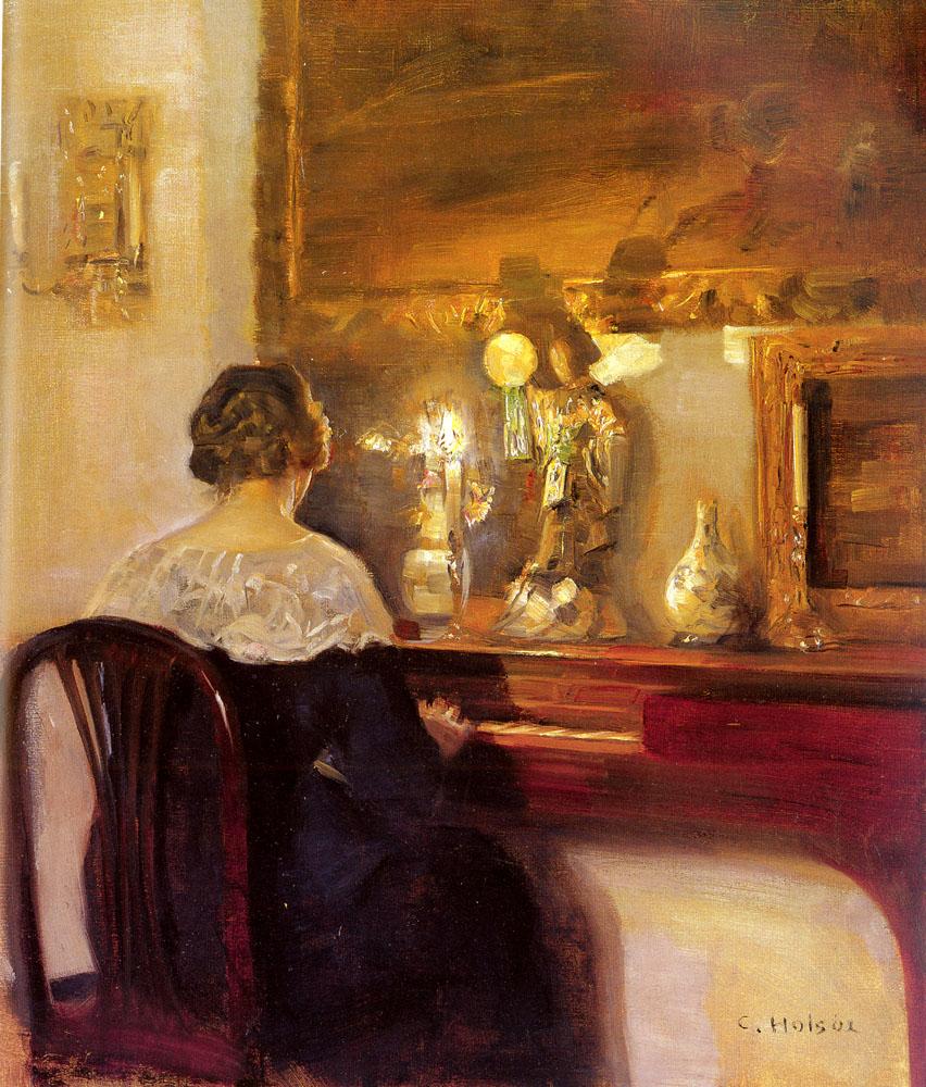 Carl Vilhelm Holsøe A_Lady_Playing_the_Spinet