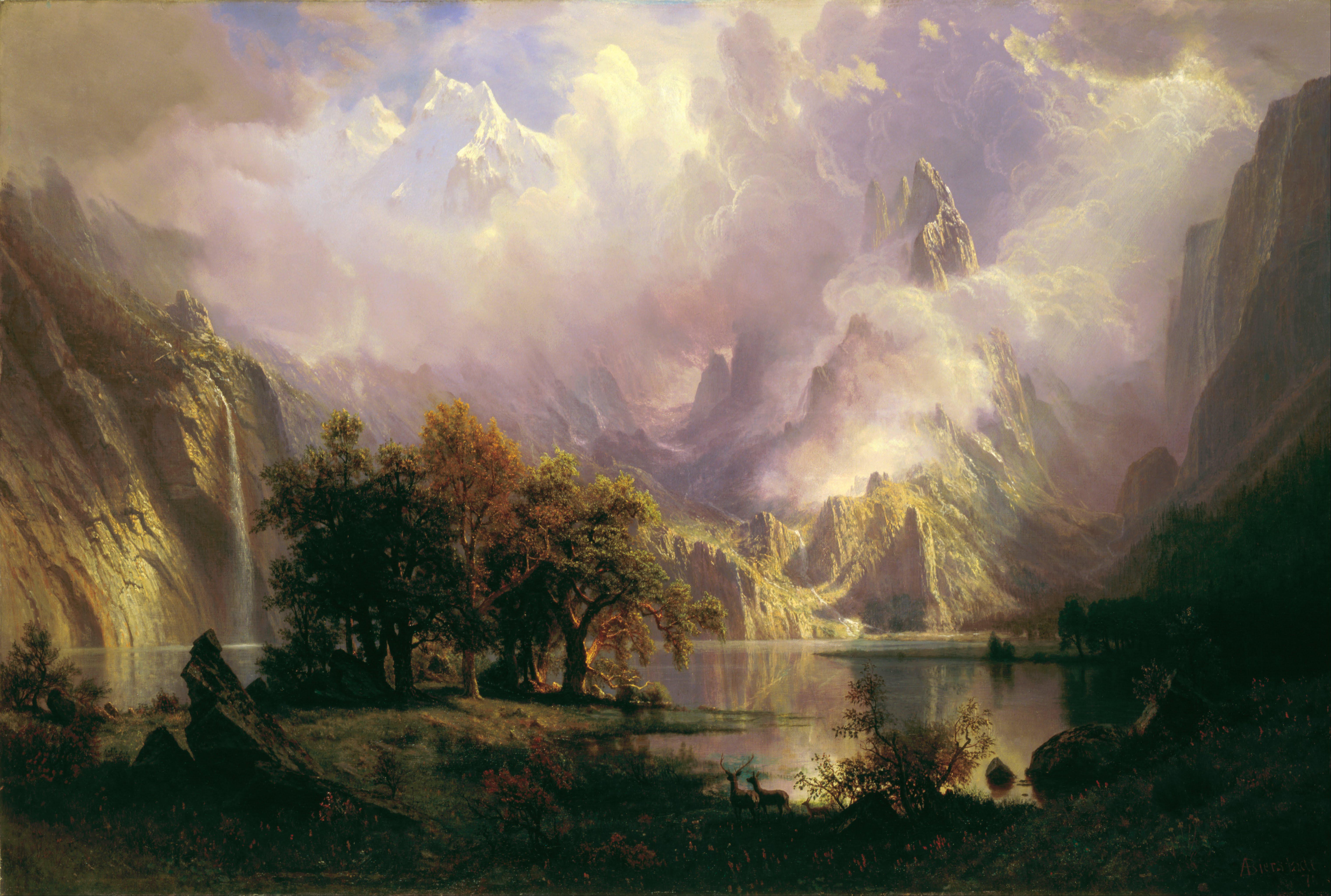 File:Albert Bierstadt - Rocky Mountain Landscape - Google
