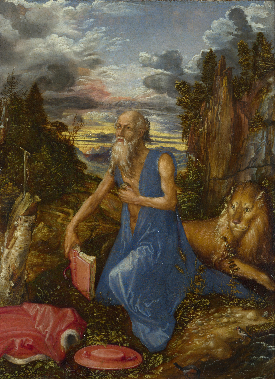 Albrecht Dürer (1471–1528). Saint Jérôme au désert, 1495,