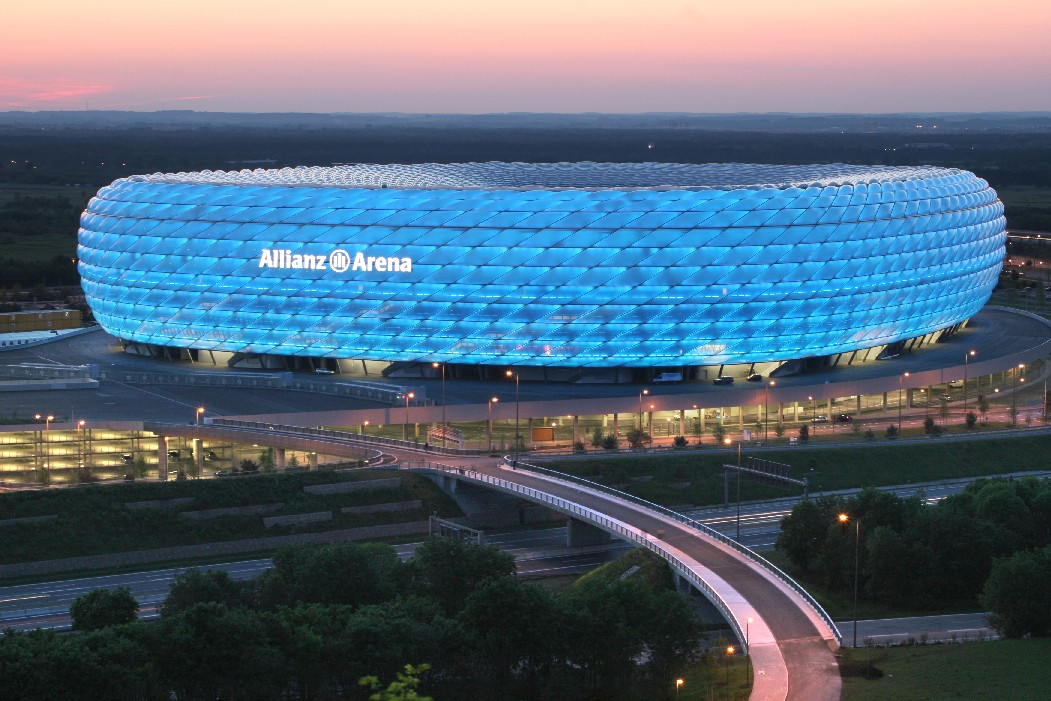 The Allianz Arena, one of the world's most modern football stadiums.