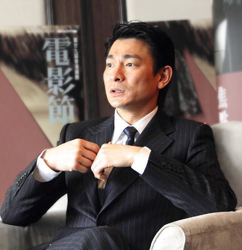 The 58-year old son of father (?) and mother Lau Lai Andy Lau Tak-wah in 2019 photo. Andy Lau Tak-wah earned a  million dollar salary - leaving the net worth at 50 million in 2019
