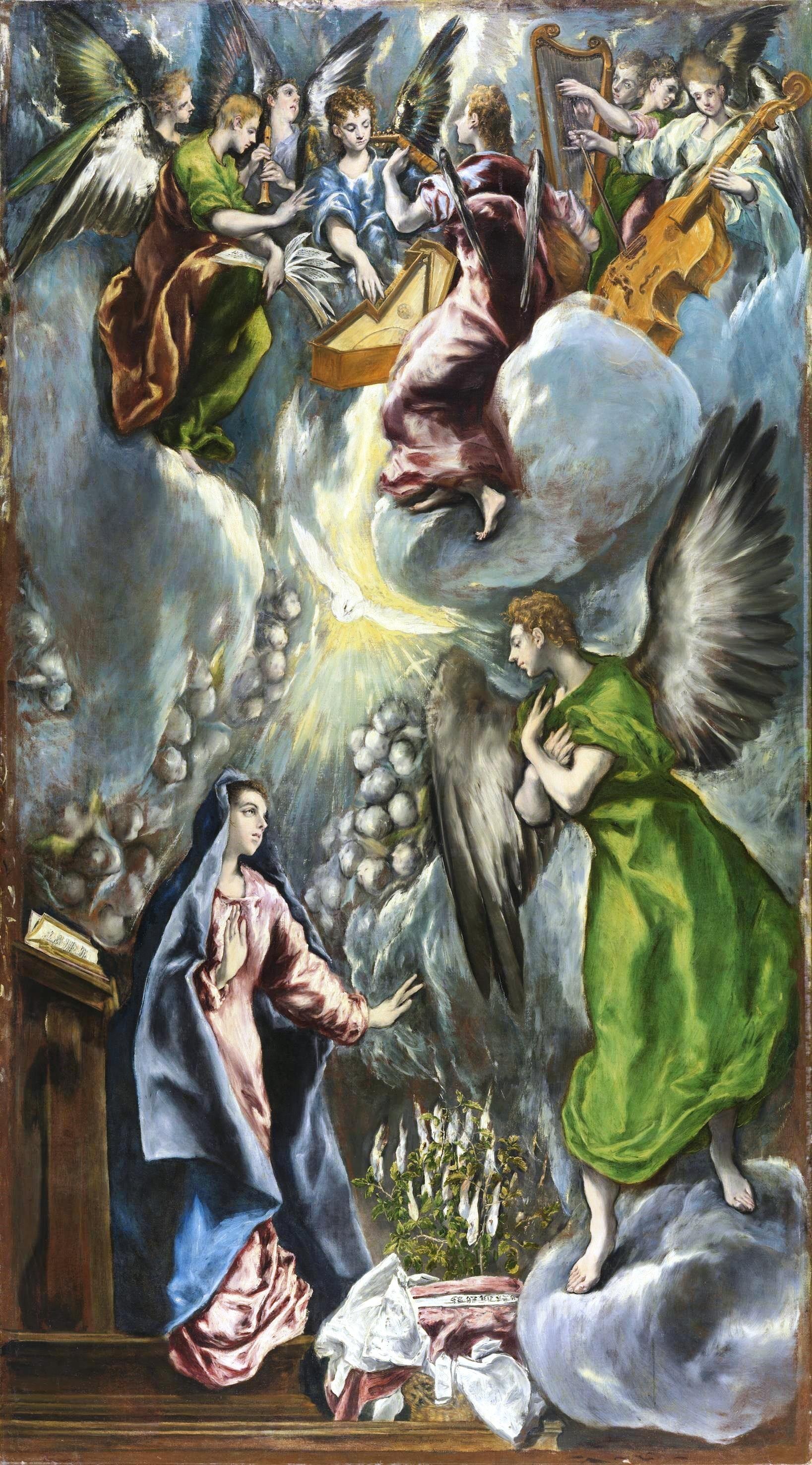 Image result for The Annunciation (El Greco)