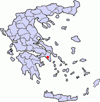 Location of the city of Athens (red dot) within the Prefecture of Athens and Periphery of Attica