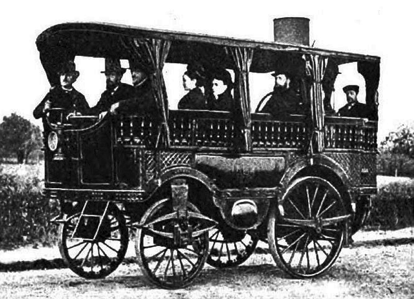 L'Obéissante - 1875 - Steam car