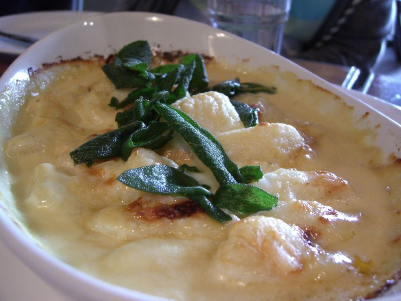 File:Baked Gnocchi with Taleggio Cheese and Crispy Sage at Il ...