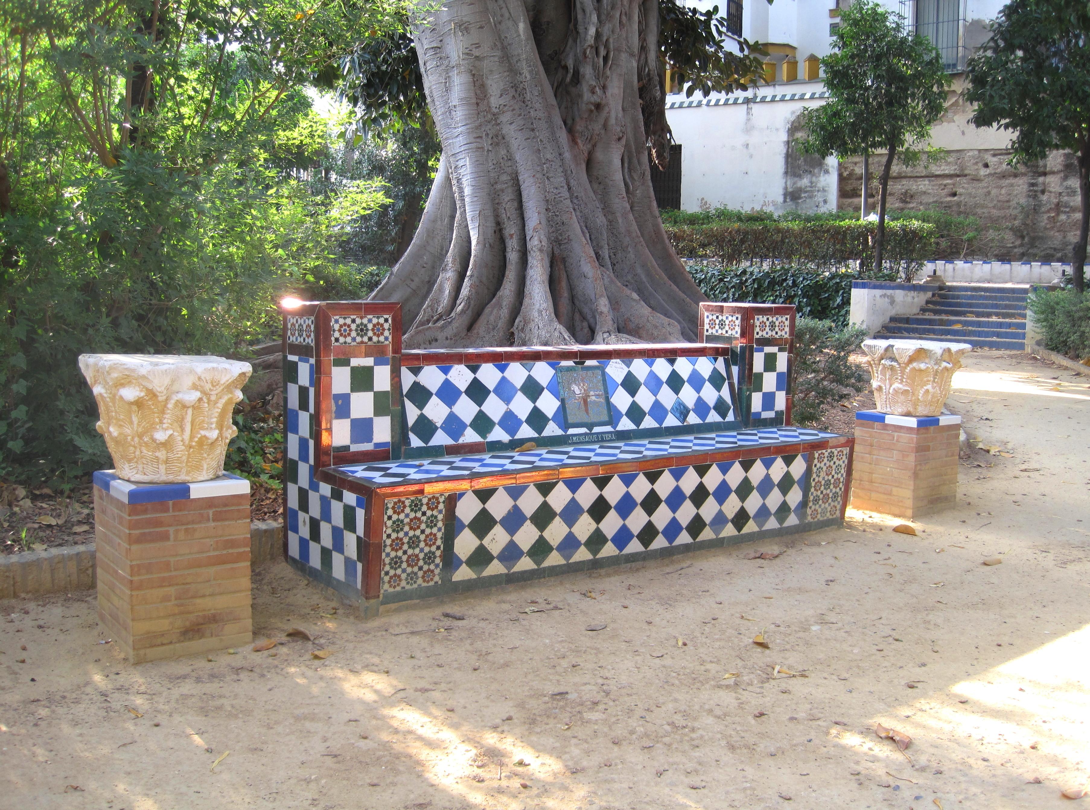 File banco en jardines murillo sevilla jpg for Jardines de murillo