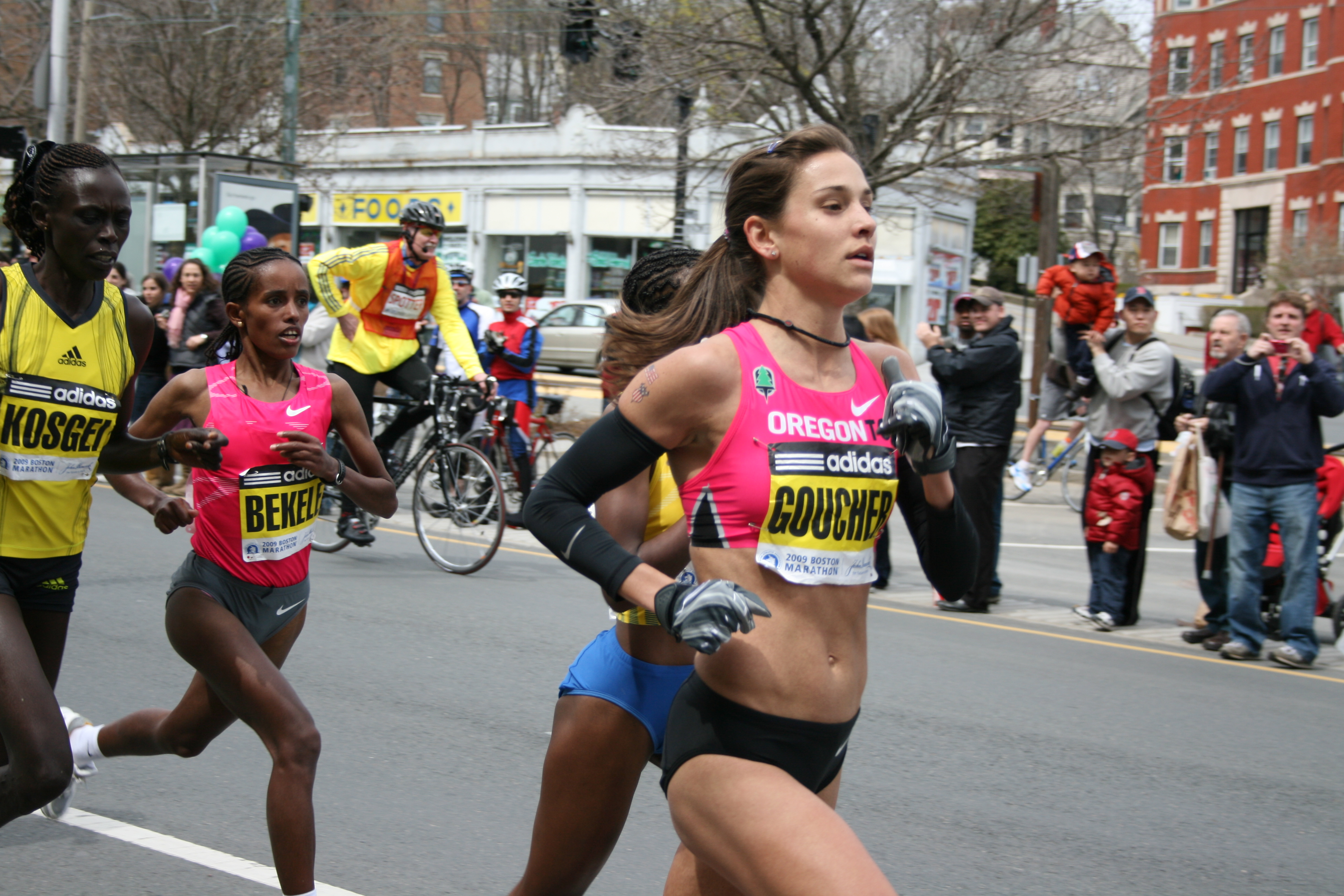 File:BOSTON MARATHON 2009 - Leading Women.jpg - Wikipedia, the free ...