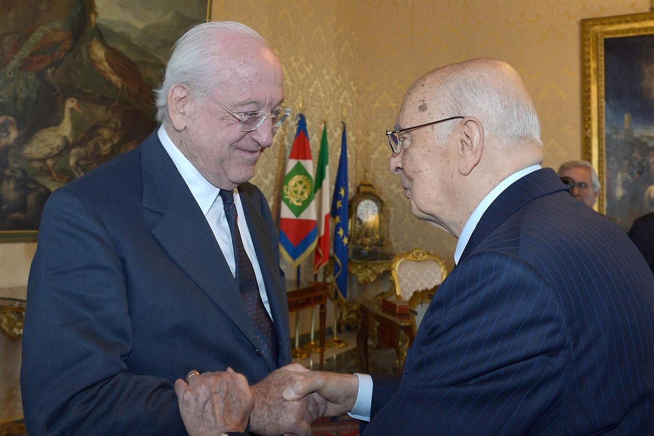 Andrea Carandini (left) with Giorgio Napolitano
