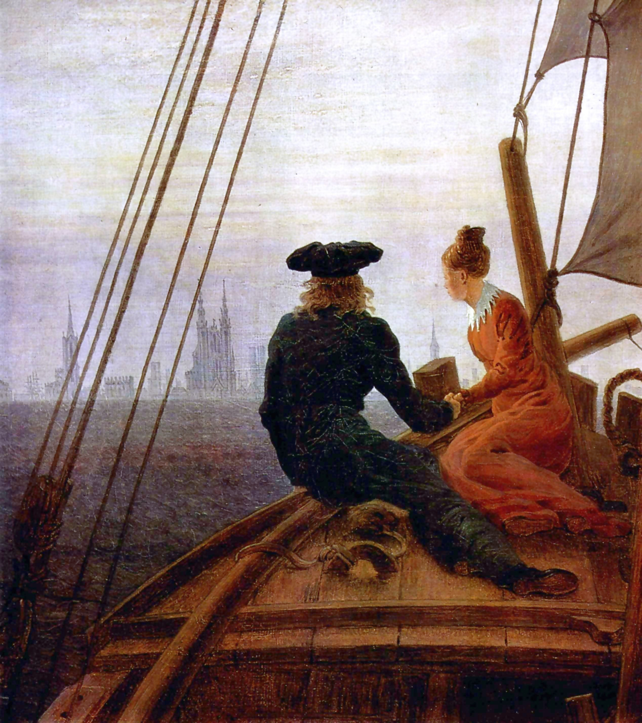 Barco de Caspar David Friedrich