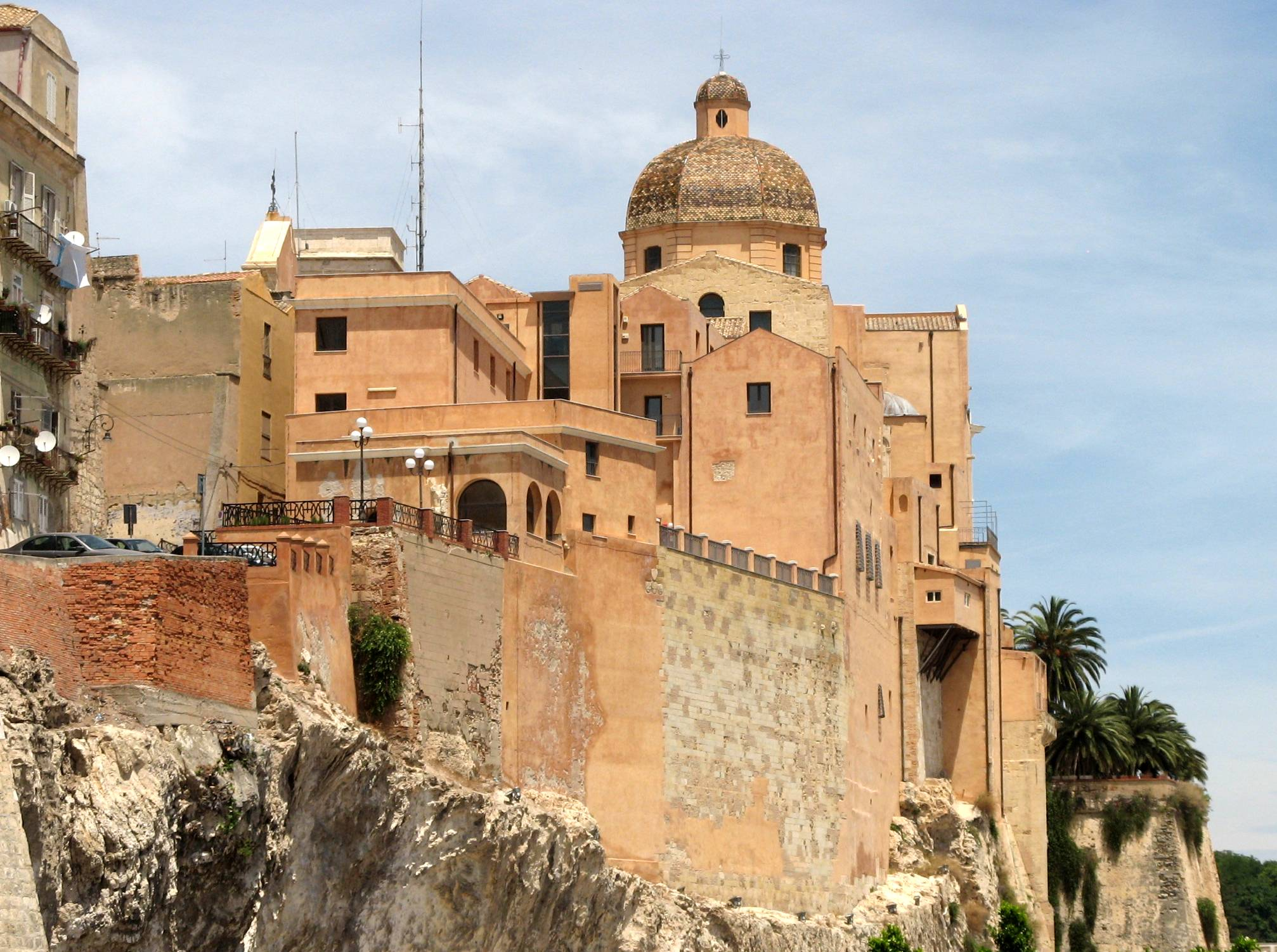 Cagliari cathedral, in the Castello Castle District