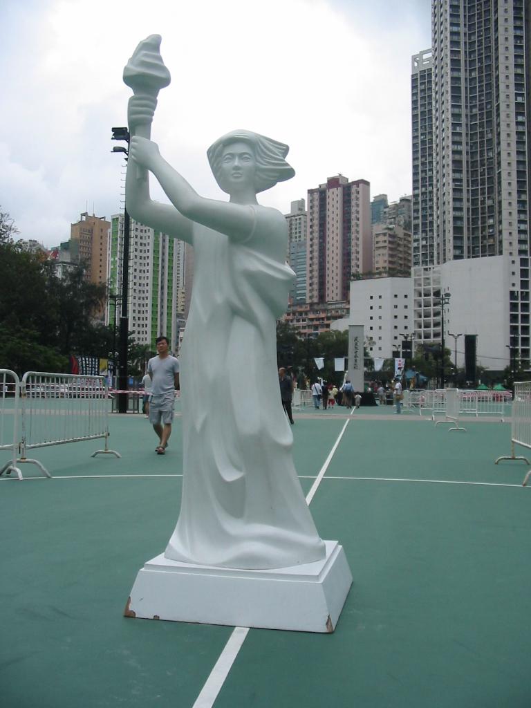 Goddess of Democracy, Victoria Park, Hong Kong