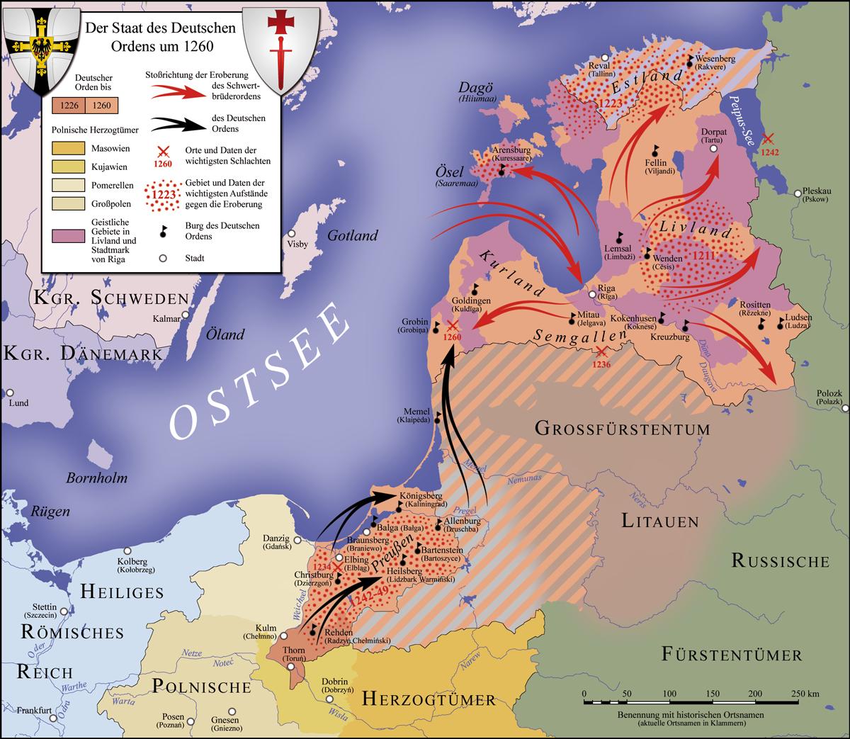 Der Staat des Deutschen Ordens um 1260