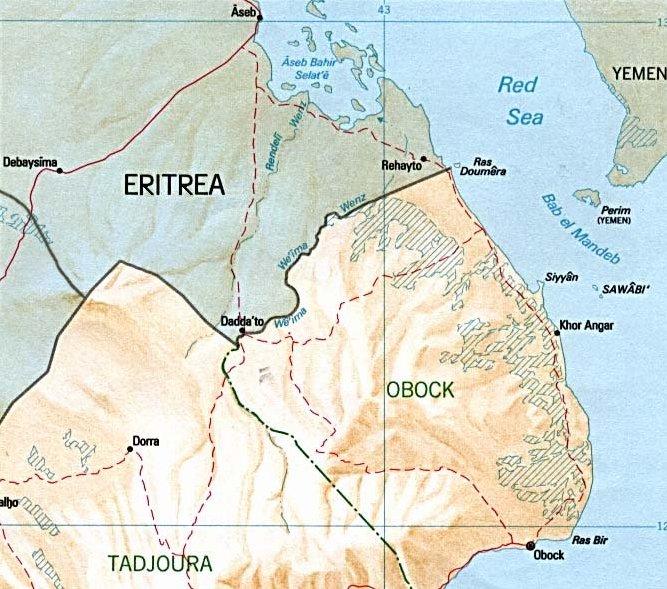 FileDjiboutiEritrea Border Mapjpg Wikimedia Commons - Djibouti map