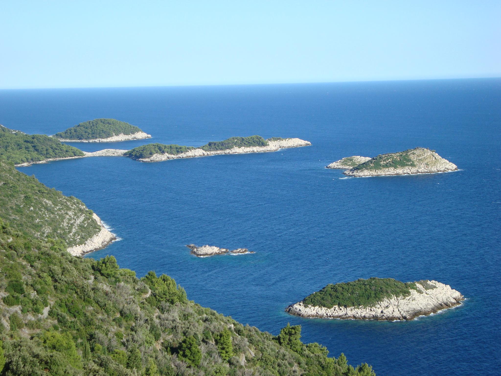 Wyspa Mljet - południowe wybrzeże