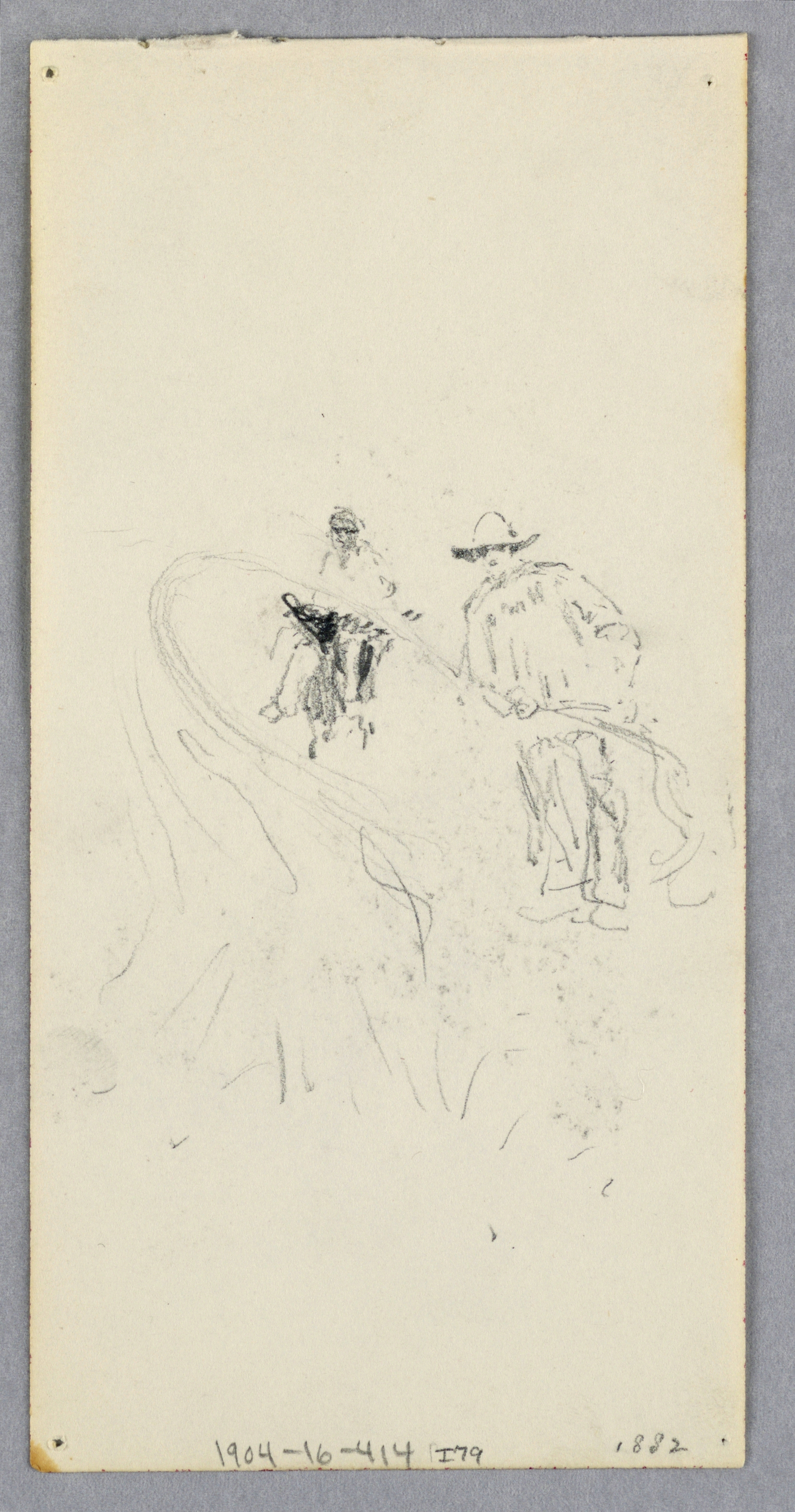 File:Drawing, Exterior Wall- Bay, Balcony, and Cornice