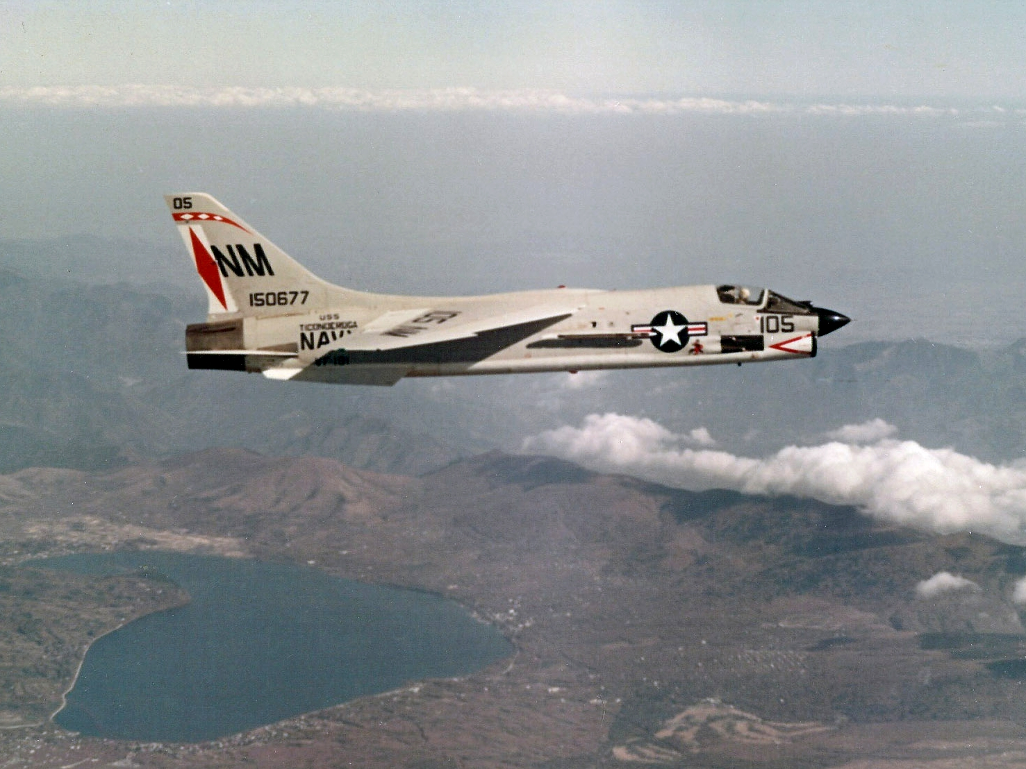 file f 8e crusader of vf 191 in flight wikimedia commons. Black Bedroom Furniture Sets. Home Design Ideas