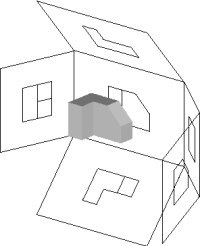 Similar image showing the box unfolding from around the object